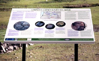 interpretation sign, Cwmysywyth Mine